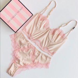 Victoria's Secret cream lingerie set - 34C/MEDIUM
